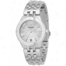 Fossil Women's Silver Braclet Watch