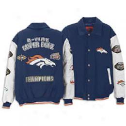 Giii Men's Wool/leather Super Bowl Champs Jacket