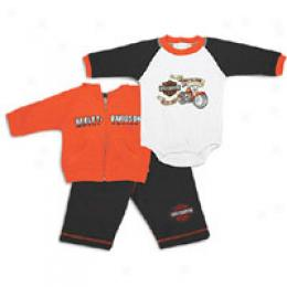 Harley Davidson Infants Bar And Shield Gift Set