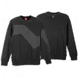 Jordan Men's Ls Retro 6 Mix Media Pullover Crew