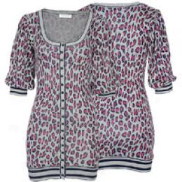 Kensie Girl Women's Animal Print Cardigan