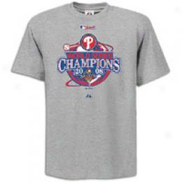 Majestic Men's Mlb Ws 08 Champs Lr Tee