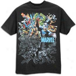 Marvel Men's Wall To Wall Tee