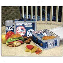 Memory Company Mlb Tin Lunch Box W/thermos