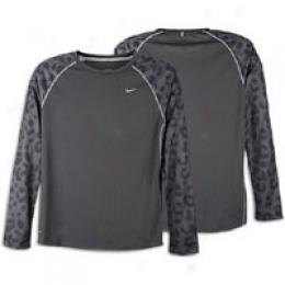 Nike Men's Cheetah Flat Back Mesh L/s Top