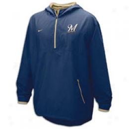Nike Men's Mlb Quarter-zip Hooded Windshirt