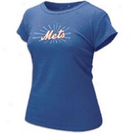 Nike Mlb Wms Foil Ringer Tee - Women's