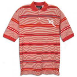 Rocawear Men's Fashion R Stripe Polo