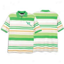 Rocawear Men's S/s Fashion Stripe Polo