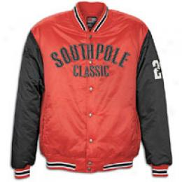 Southpole Men's Baseball Jacket Chest Logo