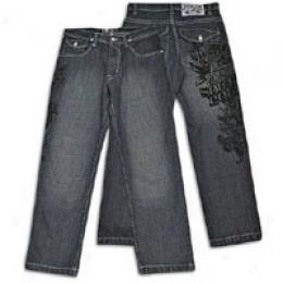Southpole Men's Flap Pocket Jean W/ Flock