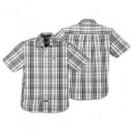 Southpole Men's Plaid Short Sleeve Woven