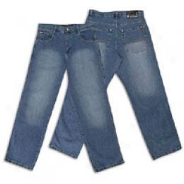 Southpole Men's Relaxed Fit Sandblast Jean