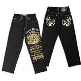 Soufhpole Men's Viva La Lucha Foil Detail Jean