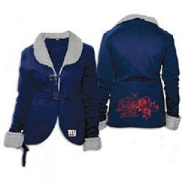 Touch Women's Nfl Fleece aJcket W/sherpa Collar