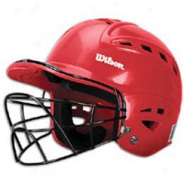 Wilson Big Kids Sleek Batting Helmet/facemask
