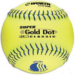 Worth Men's Suuper Gold Dot Pro Tac Softball