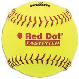 Worth Red Dot Dura-hyde .47 Core Yellow Softball