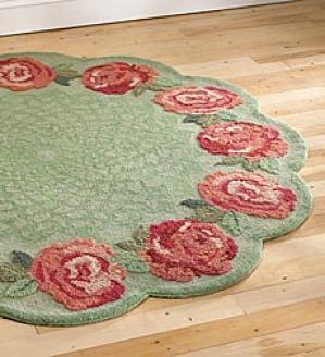 5' Full Coral Rose Rug