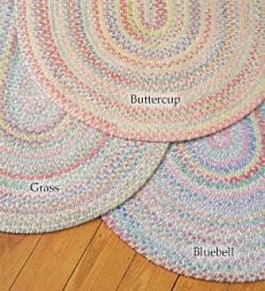 8' X 11' Oval Chenille Braided Rug