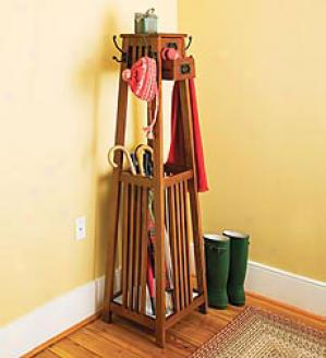 Arts And Crafts-style Coat Rack