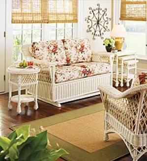 Bar Harbor Rattan  Chair Anc Sofa Set