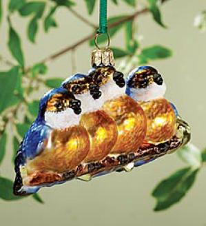 Blue Bird Ornaments
