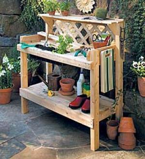 Cedar Potitng Bench