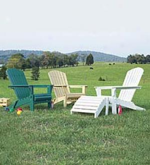 Classic  Adirondack Chair Cushion  With Back Strap   49