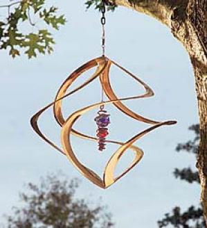 Copper And Glass Wind Swirl