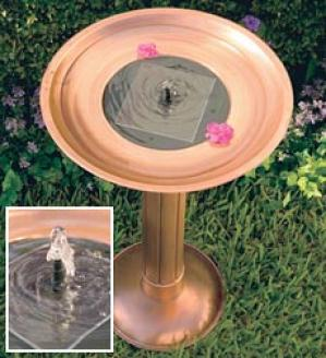 Copper Birdbath Fountain