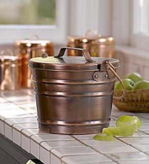 Copper Compost Bucket