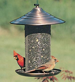 Copper-top Bird Feeder