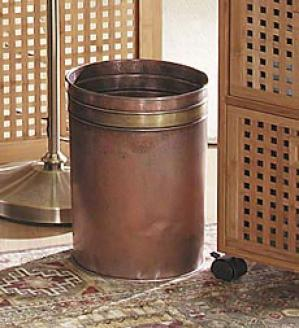 Copper Trash Can