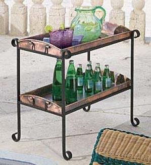 Copper Tray Plant Stand