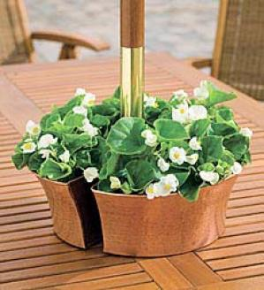 Copper Umbrella Planter