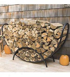Curved Log Rack