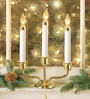 Electric Candle Lamp  Brass Only