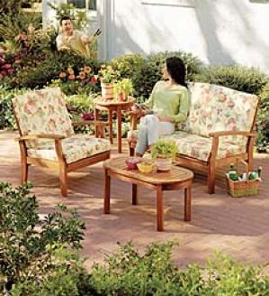 Eucalyptus Deep Seating  Plant: Loveseat, Chair, End Table