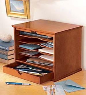 Five-shelf Desktop Organizer  Oak Only