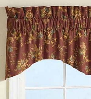 Floral M Valance  Pale Yellow Only