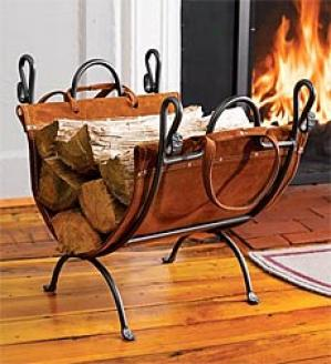 Folding Wood Rack With Sling  Brown Only