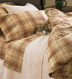 Full Plaid Flannel Duvet Cover