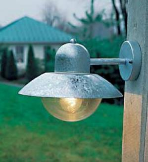 Galvanizrd Porch Light