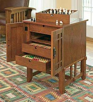 Game Cabinet  Oak Only