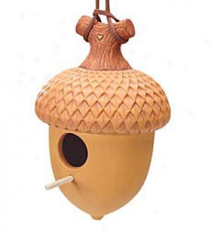 Gift-wrapped Acorn Birdhouse