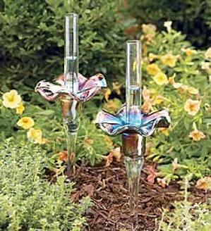 Glass Flower Rain Gaug3  Violet Only