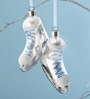 Glass Ice Skates Ornament