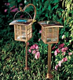 Hanging Copper Solar Light, Set Of 2