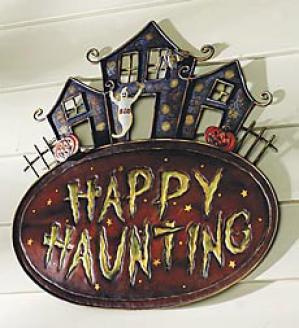 Happy Haunting Wall Plaque